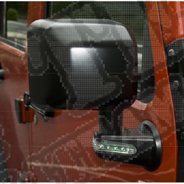 Lusterko z kierunkowskazami LED prawe czarne 07-15 Jeep Wrangler (JK)