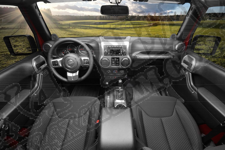 Zestaw akc. ozdobnych wnętrza, grafit, 11-15 Jeep Wrangler JK 4 drzw.