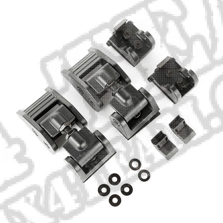 Zaczepy maski, czarne; 2018 Jeep Wrangler JL/JLU