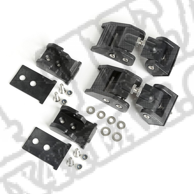 Zaczepy maski, czarna tekstura; 2018 Jeep Wrangler JL/JLU