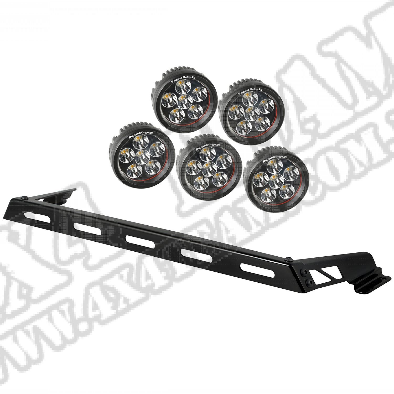 Zestaw reflektorów, 5 reflektorów LED, 07-15 Jeep Wrangler (JK)