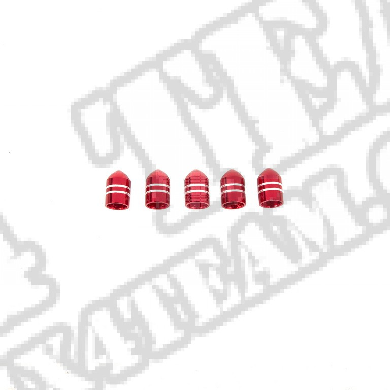 Zakrętka wentyla ALU, czerwona 5pak