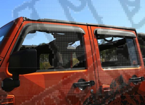 Owiewki okien bocznych, czarne matowe, 07-15 Jeep 4 drzw.
