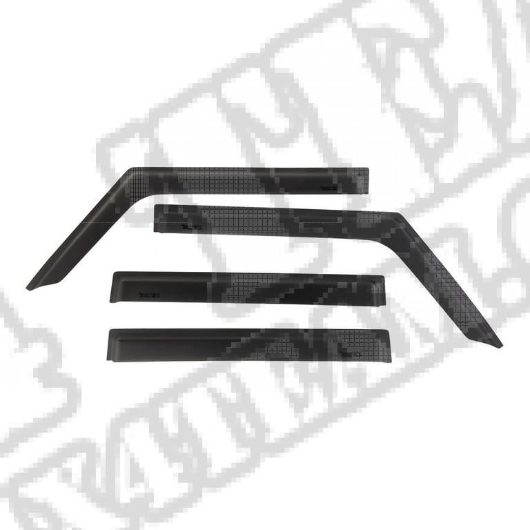 Owiewki okien bocznych, czarne matowe, Wrangler JL 4 drzw.