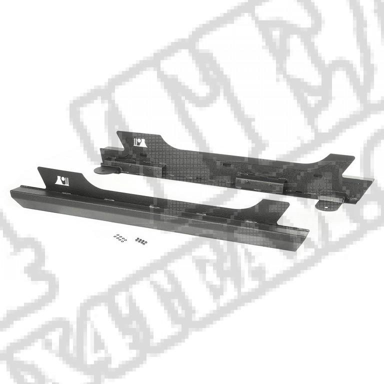 Osłony nadwozia XHD Rock Sliders, Stalowe; 07-16 Jeep Wrangler JK, 2 drzwiowy