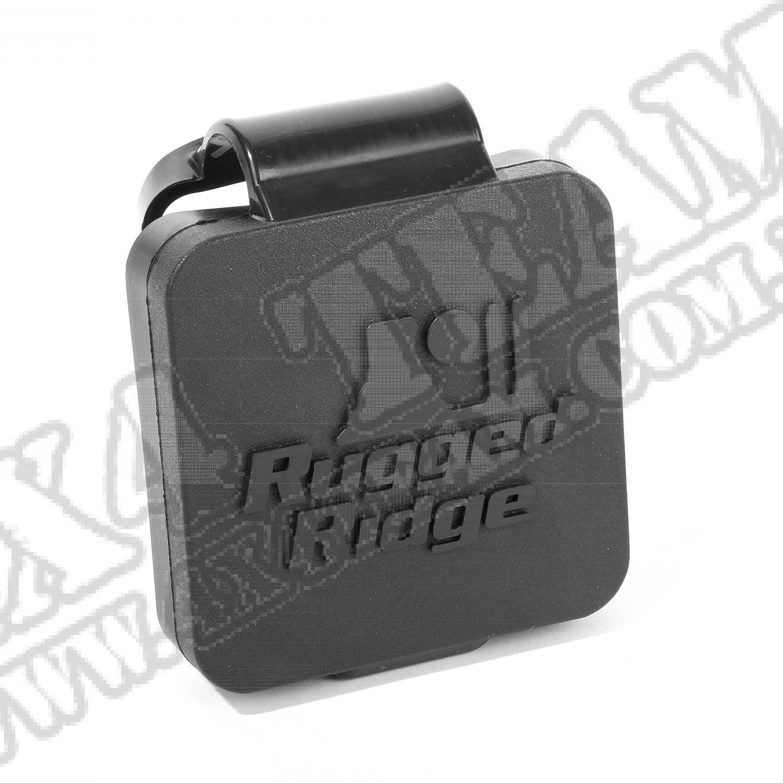 Zaślepka mocowania 2 cal., czarna, Rugged Ridge logo