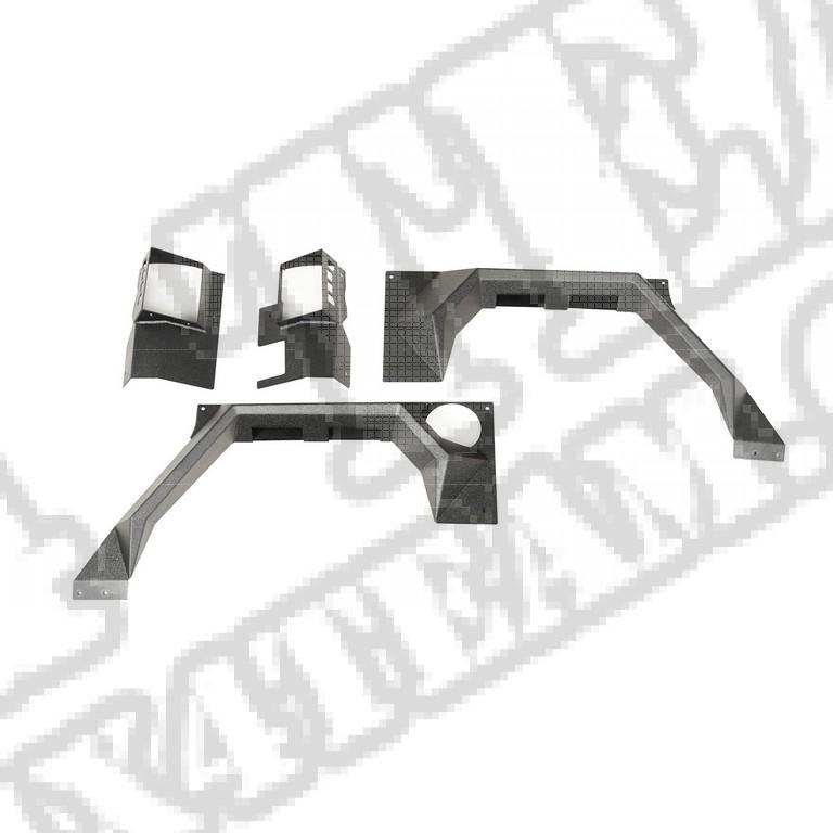 Tylne błotniki XHD Armor, para, 4 Dr; 07-17 Jeep JKU