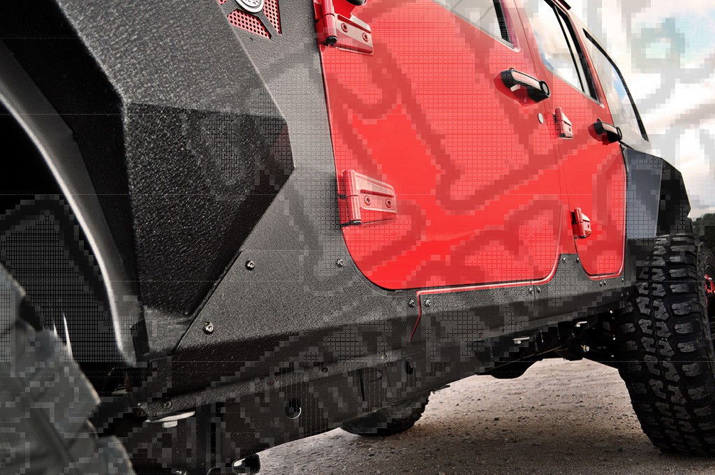 Osłony boczne XHD Armor 07-17 Jeep Wrangler Unlimited JKU