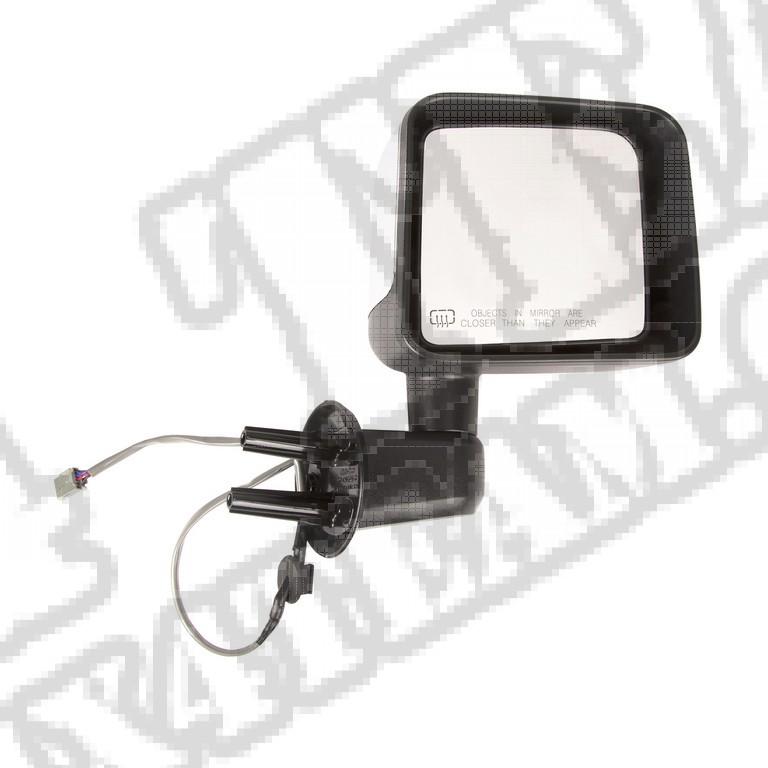 Lusterko boczne regulowane, ogrzewane, chromowana pokrywa, prawe, 2014 Jeep Wrangler JK