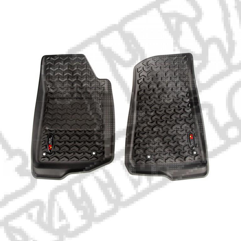 Zestaw przednich dywaników, czarne; 18-18 Jeep Wrangler JL/JLU