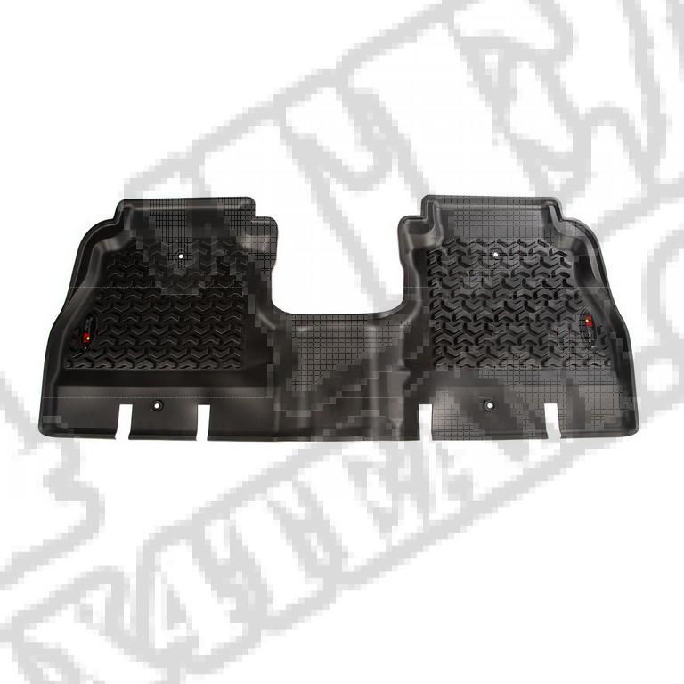 Tylny dywanik, czarny; 18-18 Jeep Wrangler Unlimited JLU, 4 Door