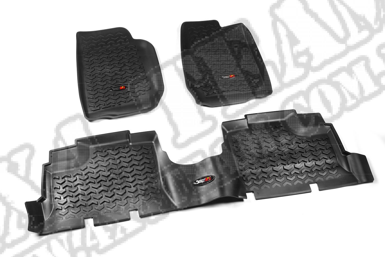 Zestaw dywaników, czarny, 07-13 Jeep Wrangler Unlimited (JK)