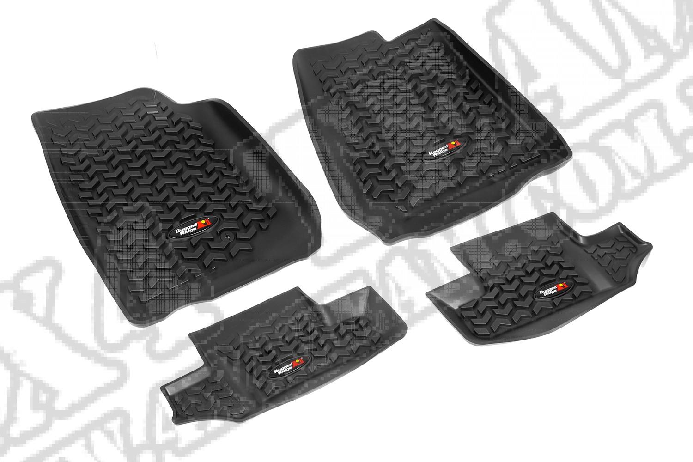 Zestaw dywaników, czarny, 07-15 Jeep Wrangler (JK)