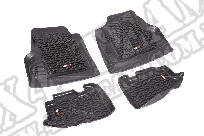 Zestaw dywaników, czarny, 97-06 Jeep Wrangler/Unlimited (TJ/LJ)