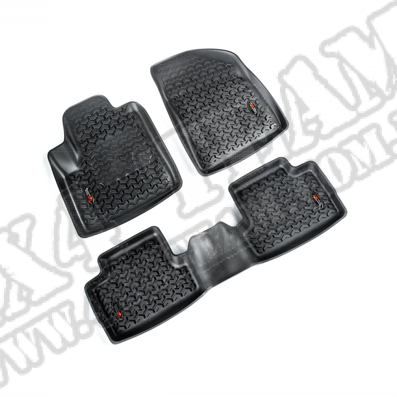 Zestaw dywaników, czarny, przód/tył, 14-15 Jeep Cherokee