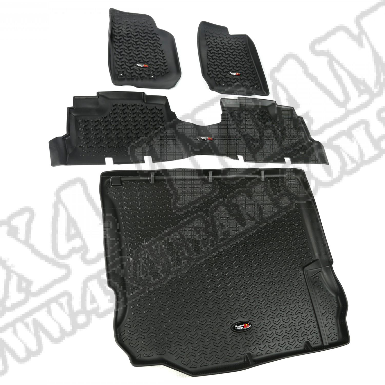 Zesatw dywaników, czarny, 11-14 Jeep Wrangler (JK) 4 drzwiowy