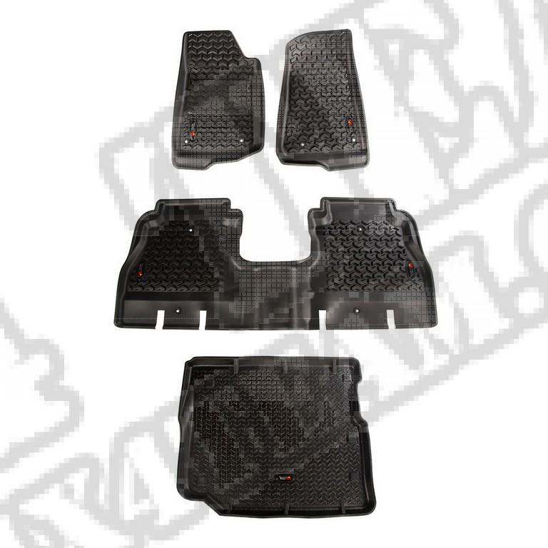 Komplet dywaników, czarny; 18-18 Jeep Wrangler Unlimited JLU