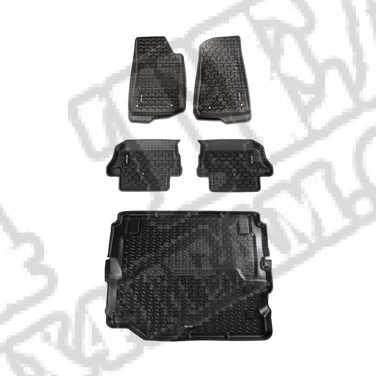 Komplet dywaników, czarny; Jeep Wrangler JL (pełny bagażnik)