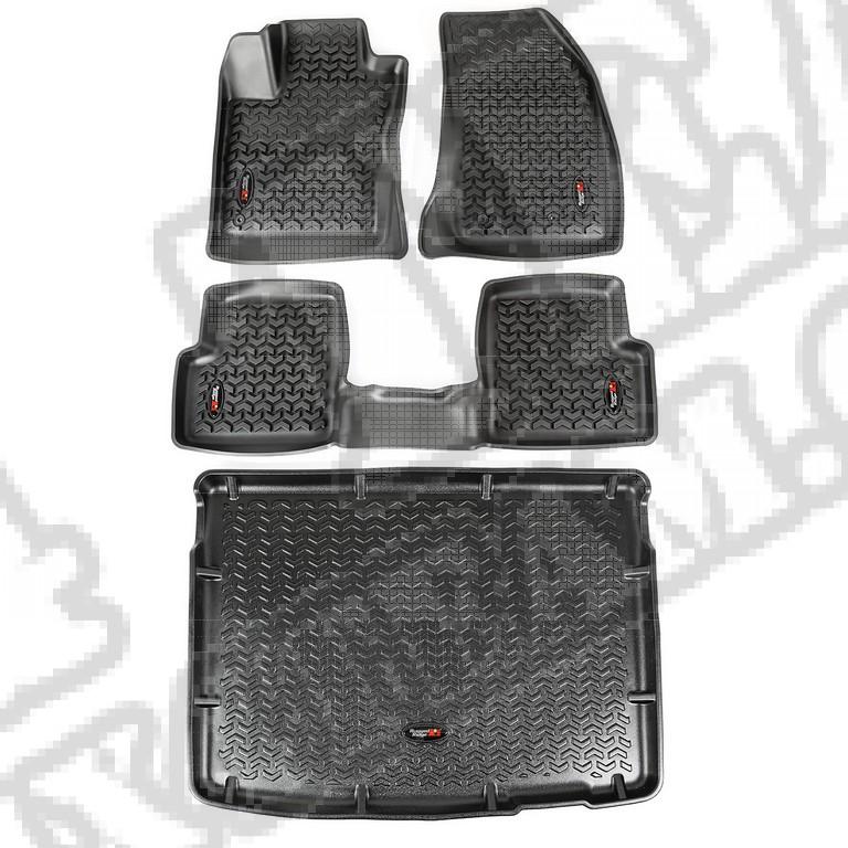 Komplet dywaników, czarny; 15-16 Jeep Renegade BU