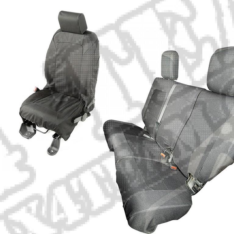 Pokrowce Elite Ballistic, zestaw, czarne, 4 Dr; 07-10 Jeep Wrangler JKU