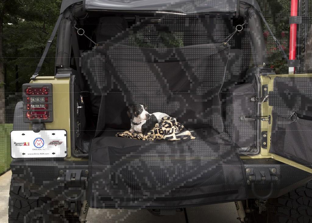 Box dla psa C4 Canine Cube; 07-18 Jeep Wrangler JK