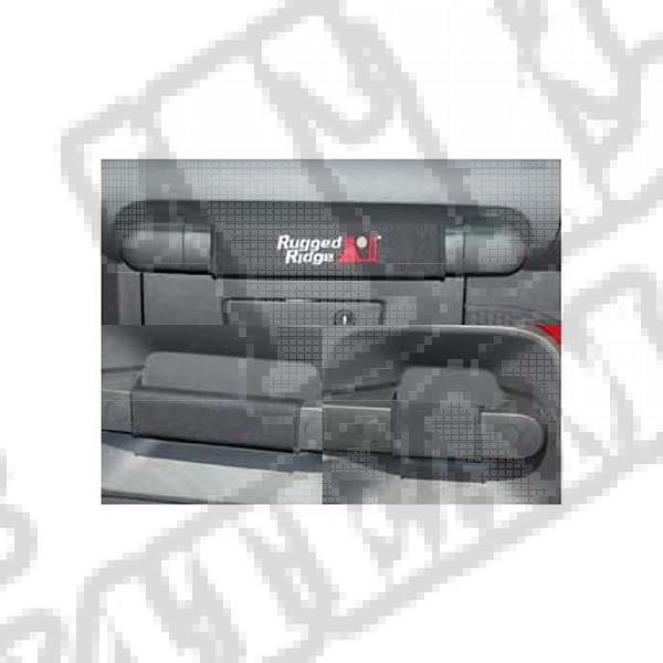 Zestaw nakładek rączek czarny 07-10 Jeep Wrangler Unlimited JK