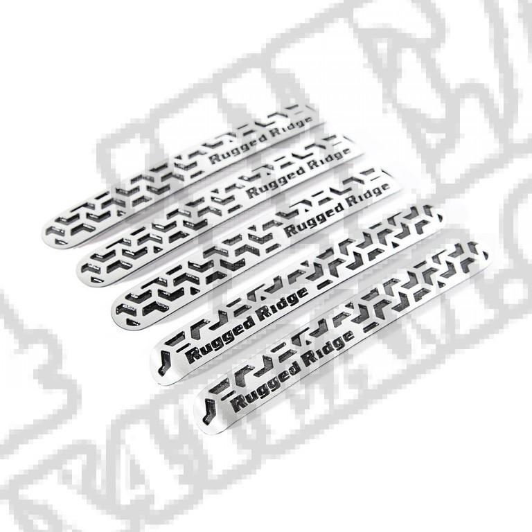Wkładki klamek zewnętrznych, aluminum, 4 Dr; 07-17 Jeep Wrangler JKU