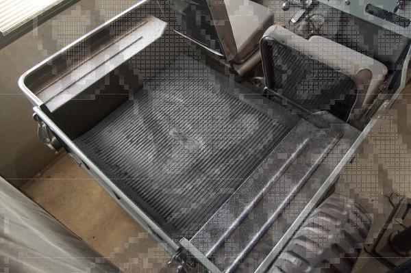 Dywanik bagażnika, czarny, 46-81 Willys & Jeep SUV/Truck/Station Wagon