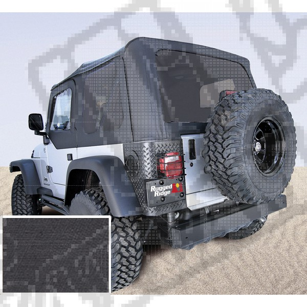 Miękki dach XHD black denim 97-06 Jeep Wrangler TJ