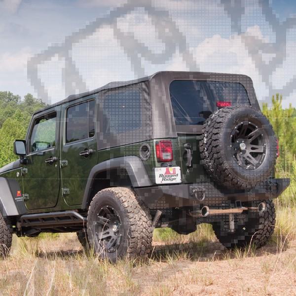Miękki dach XHD black diamond 07-09 Jeep Wrangler Unlimited JK