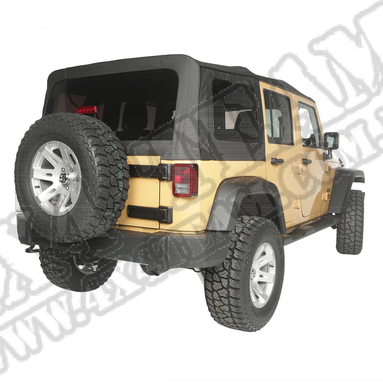 Plandeka winylowa, Black Diamond, 10-15 Jeep Wrangler 4-Drzwiowy