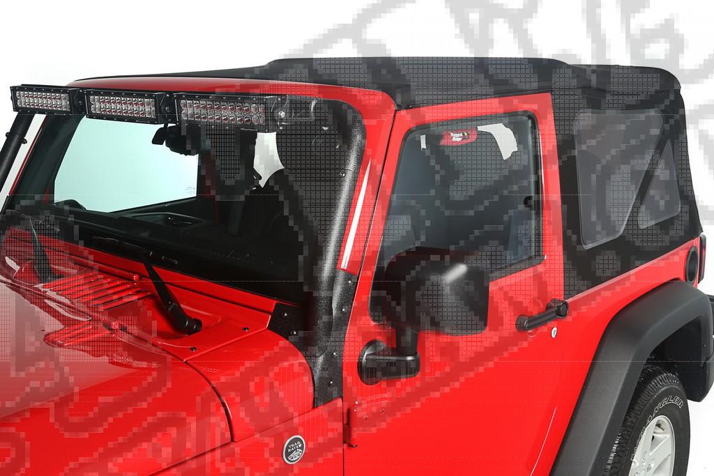 Poszycie plandeki Montana Top, Black Diamond, bez drzwi, przyciemniane okna; 10-18 Jeep Wrangler JK, 2 Door