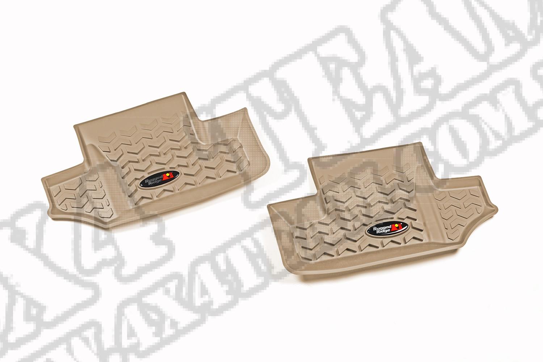 Dywanik, tył, jasny brąz (tan), 07-15 Jeep Wrangler (JK)