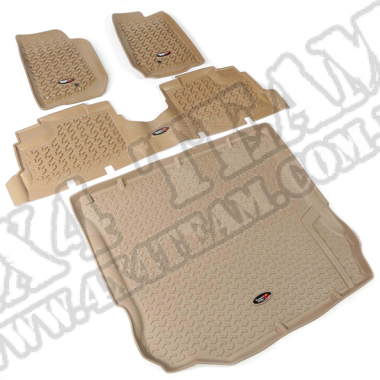 Zestaw dywaników, jasny brąz (tan), 11-14 Jeep Wrangler (JK) 4 drzw.