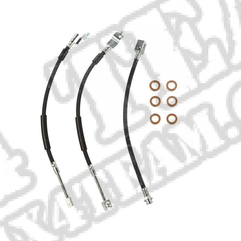 Zestaw elastycznych przewodów hamulcowych; 87-89 Jeep Wrangler YJ