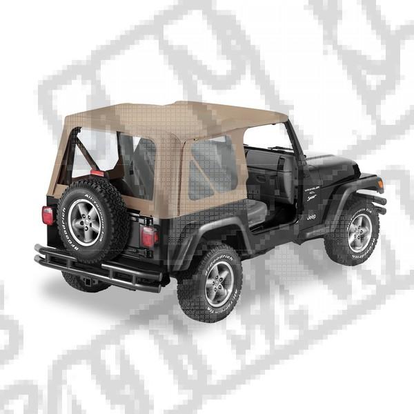 Plandeka Replace-A-Top ciemny Beż 97-02 Jeep TJ Wrangler