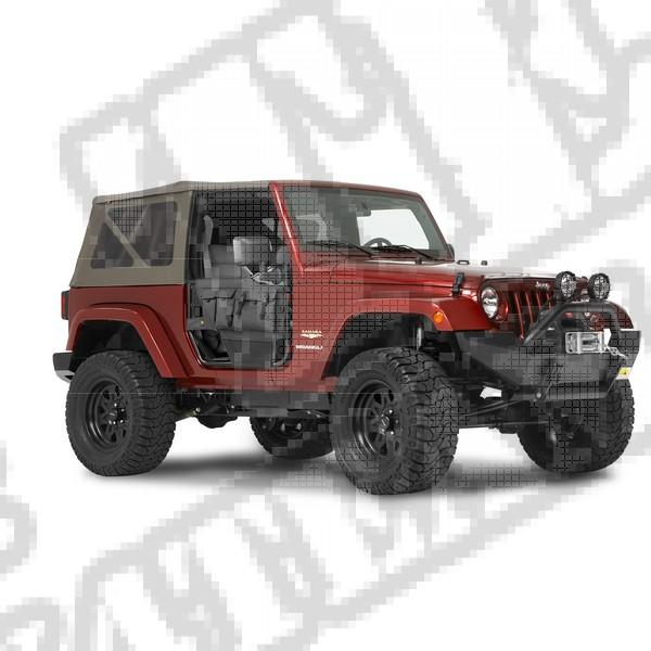 Drzwi rurowe Element Czarny Diamond 97-06 Jeep Wrangler
