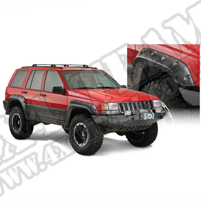 Cut Out Style Zestaw nakładek błotników dla 1993-1998 Jeep Grand Cherokee Zj