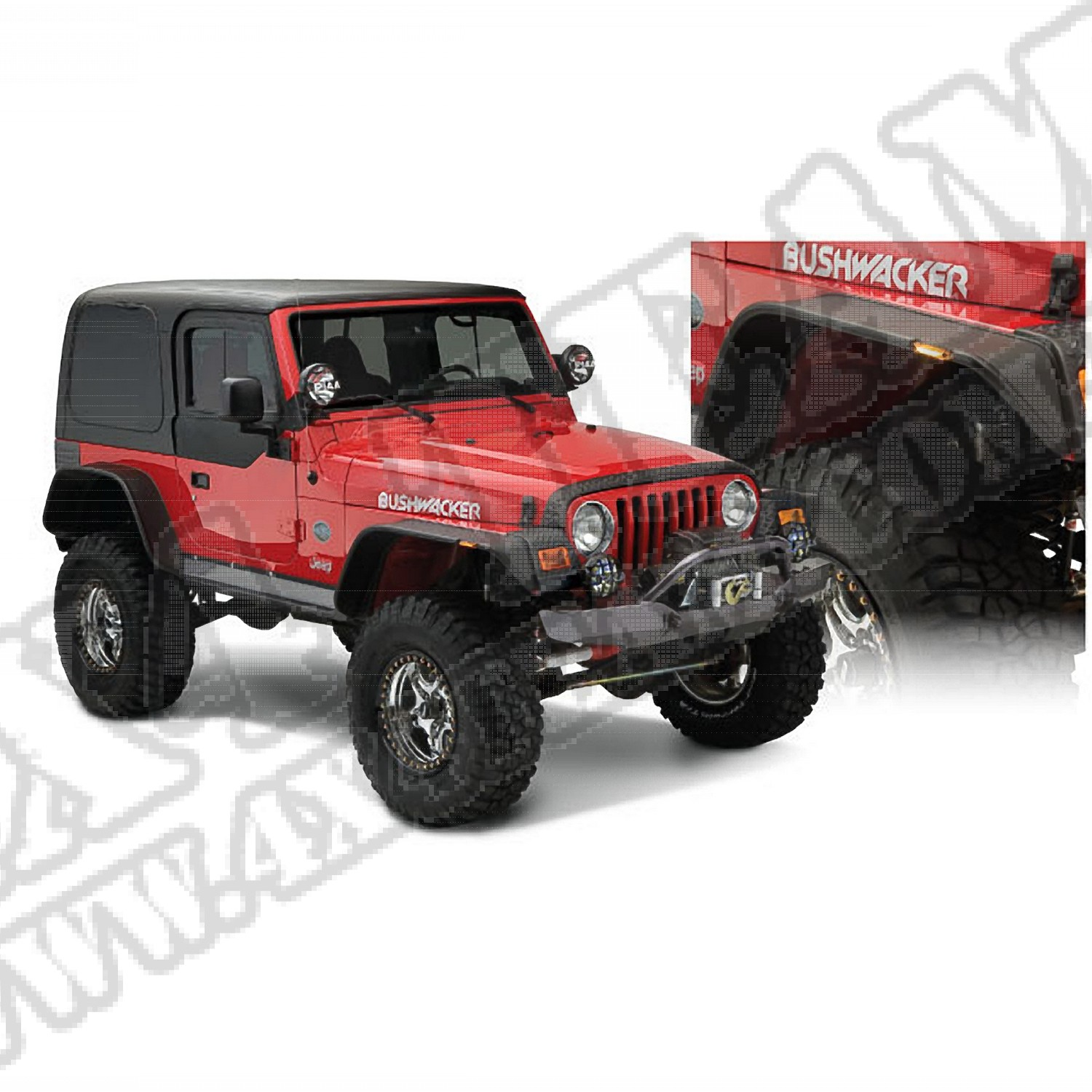 Flate Style Flare Kit For Jeep Wrangler TJ