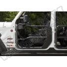 Przednie drzwi rurowe, czarna tekstura, z lusterkami; 18-18 Jeep Wrangler JL
