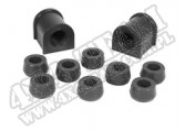 Suspension Stabilizer Bar Bushing Kit, Front, Black, 15/16; 87-95 YJ