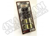 Suspension Stabilizer Bar Bushing Kit, Front, Black, 28mm; 84-01 XJ