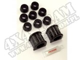 Suspension Stabilizer Bar Bushing Kit, Front, Black, 1-1/8; 87-95 YJ