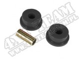 Suspension Track Bar Bushing Kit, Front, Black; 84-01 Jeep Cherokee XJ