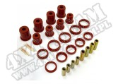 Suspension Control Arm Bushing Kit, Front, Red; 97-06 Jeep Wrangler TJ