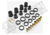 Suspension Control Arm Bushing Kit, Front, Black; 97-06 Wrangler TJ