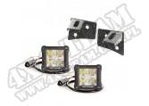Komplet podszybia z reflektorami LED DualCube; 07-17 Jeep Wrangler JK