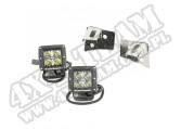 Zestaw lamp kwadr. LED z mocowaniami 07-15 Wrangler