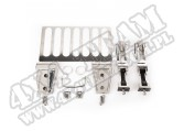 Zestaw nierdzewnych akcesoriów maski; 13-17 Jeep Wrangler JK i JKU