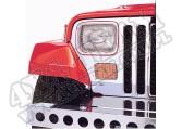 Osłony lamp, stal nierdzewna, zestaw 87-95 Jeep Wrangler (YJ)